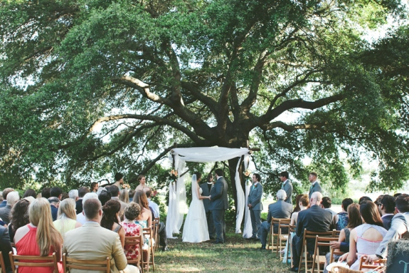 charleston wedding outdoor ceremony