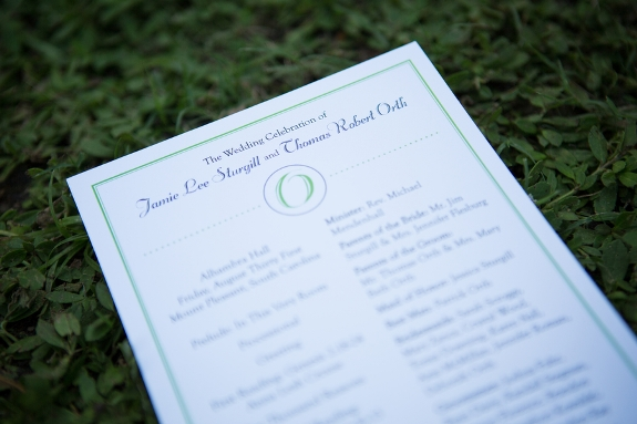 charleston weddings, blue and green wedding colors
