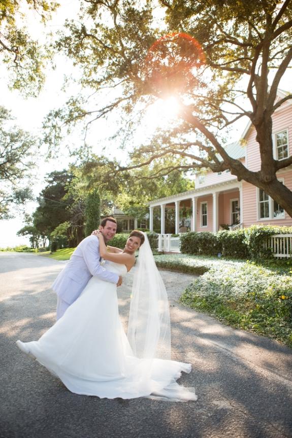charleston wedding bride and groom, southern wedding couple