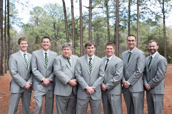 south carolina weddings, groomsmen in grey suites