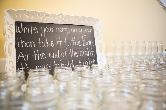 charleston wedding favors, mason jars