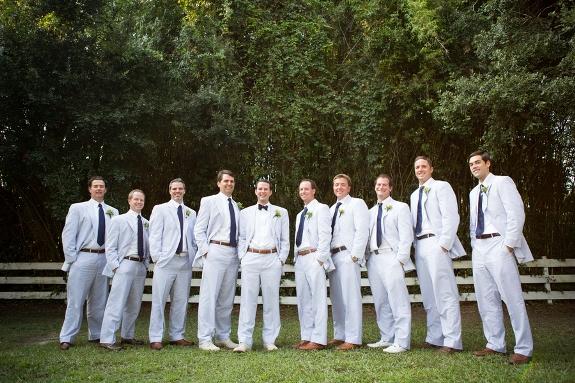 charleston wedding details, seersucker suits