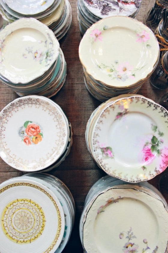 vintage wedding dishes, charleston wedding