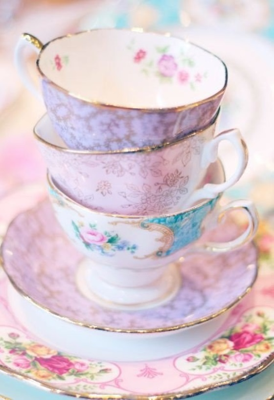 charleston vintage wedding teacups