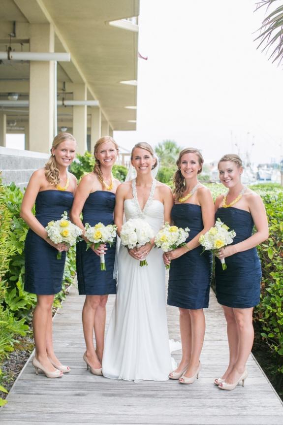 Nautical Wedding Party Dresses