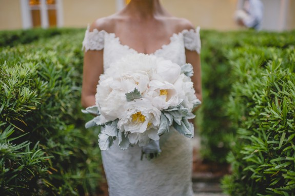 white-peony bouquet