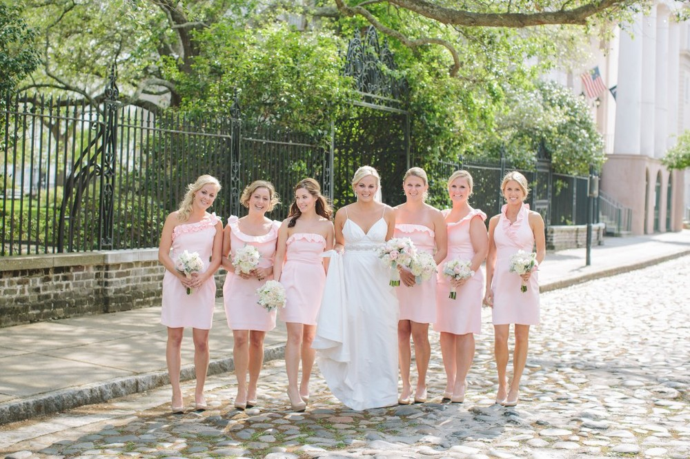 charleston-weddings-pale-pink-bridesmaids-dress