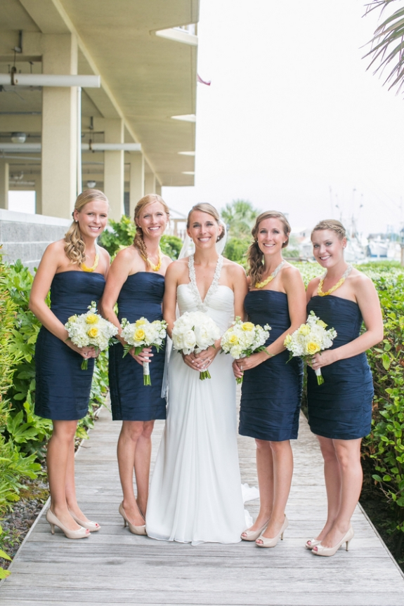 nautical-weddings-navy-bridesmaids dresses