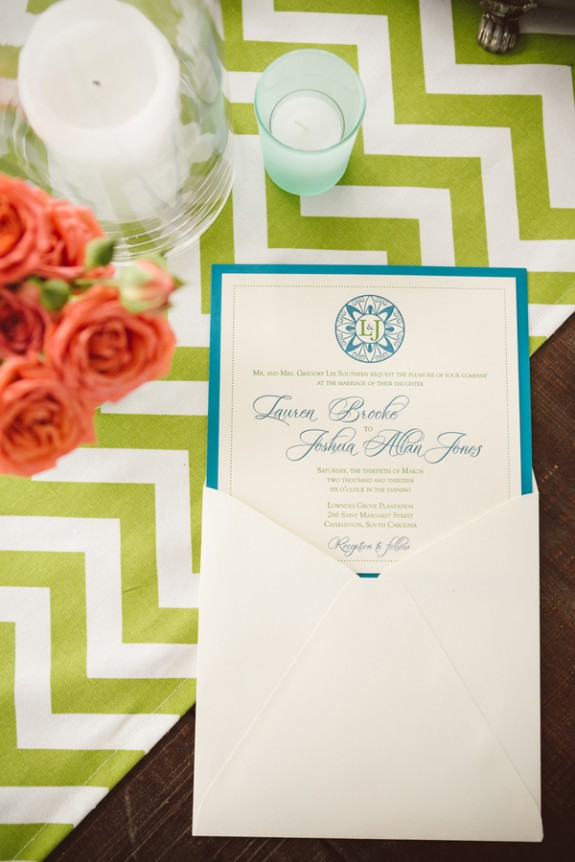 lime green wedding chevron tablecloth