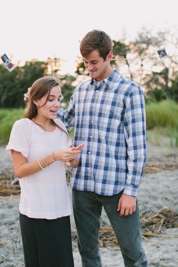 folly beach surprise wedding proposal