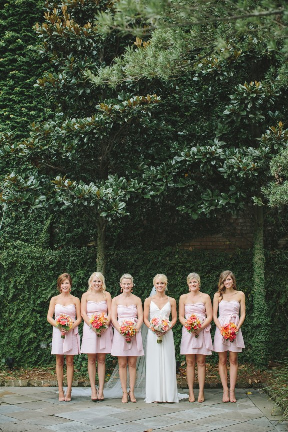 seersucker bridesmaids dresses