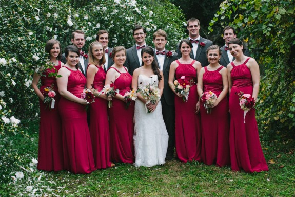 long-red-bridesmaids-dresses