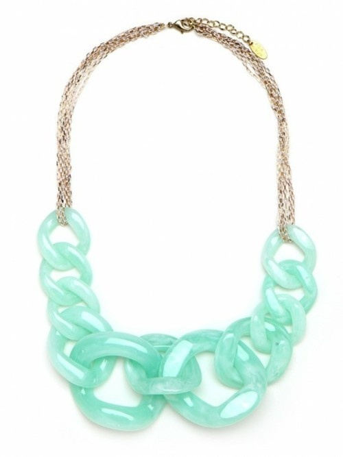 Mint Wedding Necklace