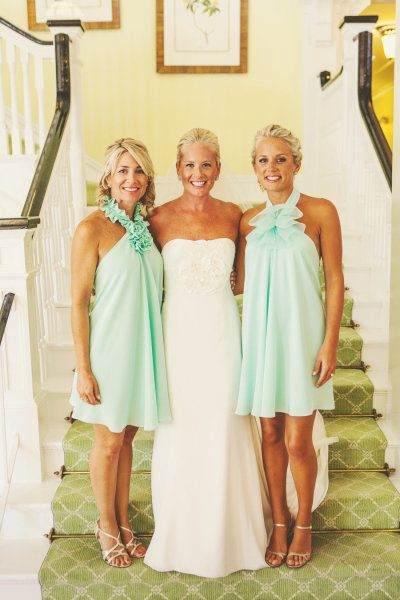 mint dolly pearl bridesmaids dresses