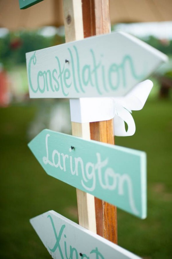 Mint Wedding Signs