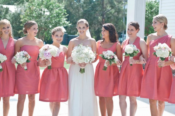 Pink Bridesmaids Dresses in Southern wedding
