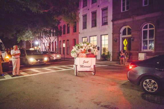 charleston wedding rickshaw getaway