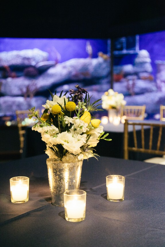 Navy South Carolina Aquarium Wedding by The Burlap Elephant