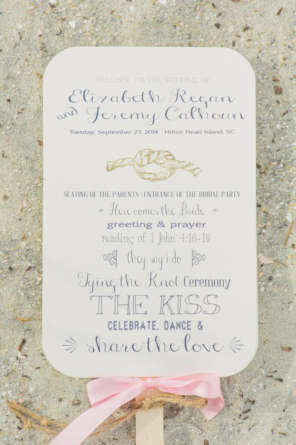 Nautical Wedding Invitation at Hilton Head Island by Priscilla Thomas Photography