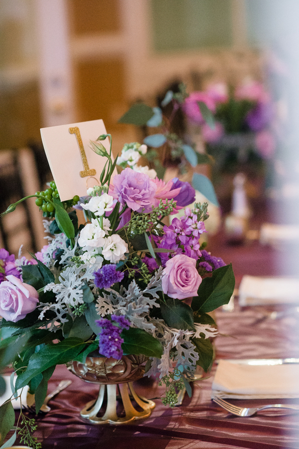 Purple and Gold Savannah Wedding at the Tybee Island Wedding Chapel by Emily Millay Photography