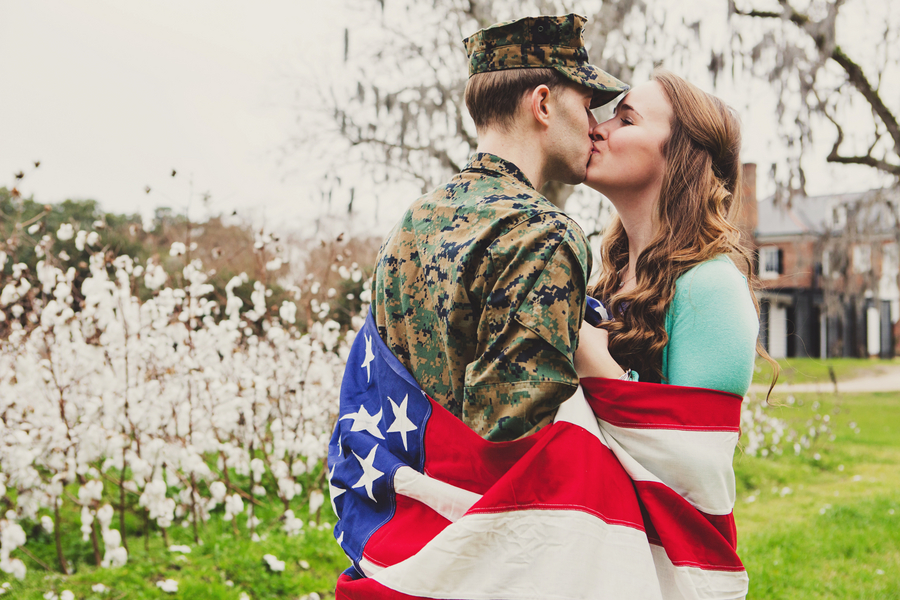Military Engagement Session at Boone Hall Plantation