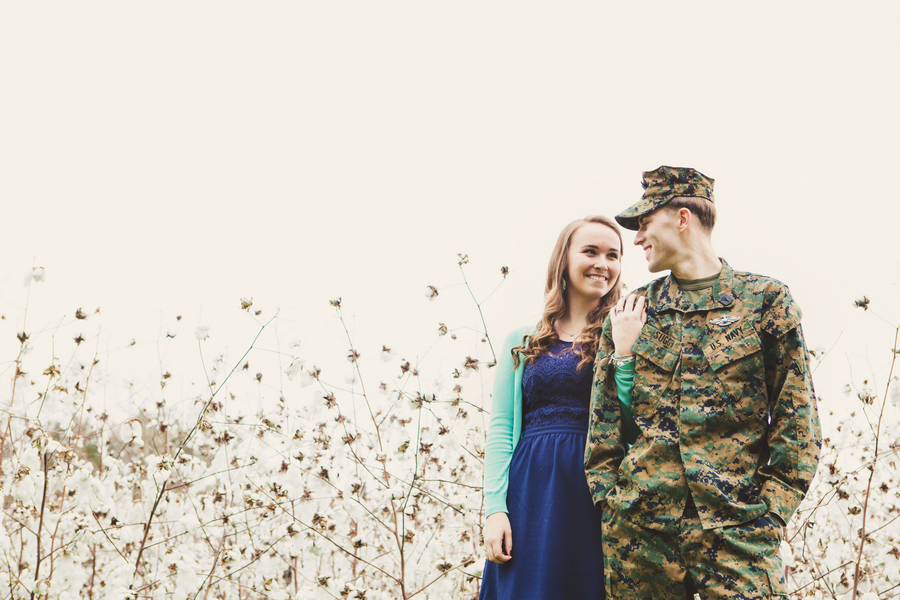 Military Engagement Session at Boone Hall