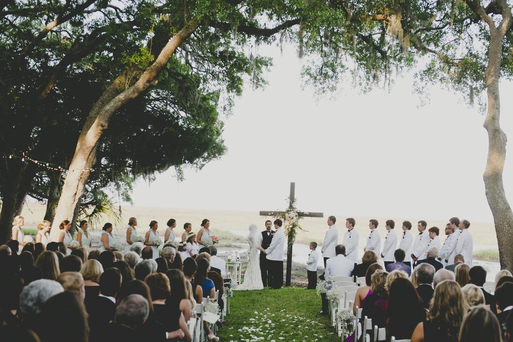 Outdoor Savannah Wedding Ceremony