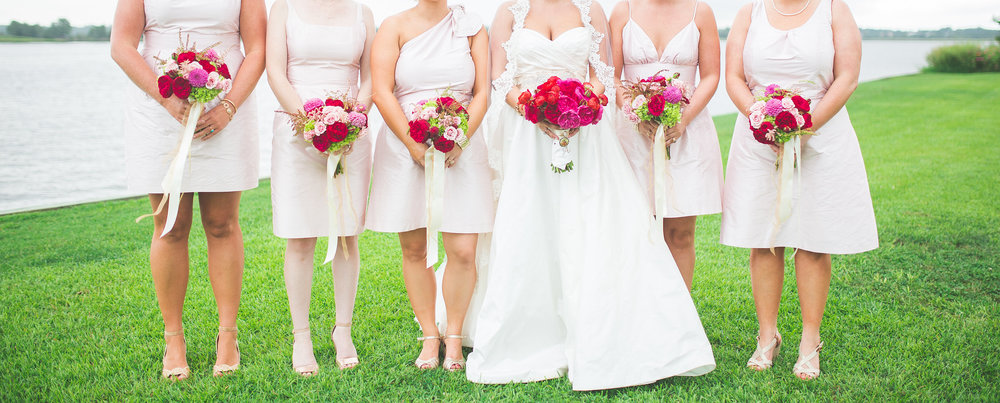 Baby Pink Bridesmaids Dresses