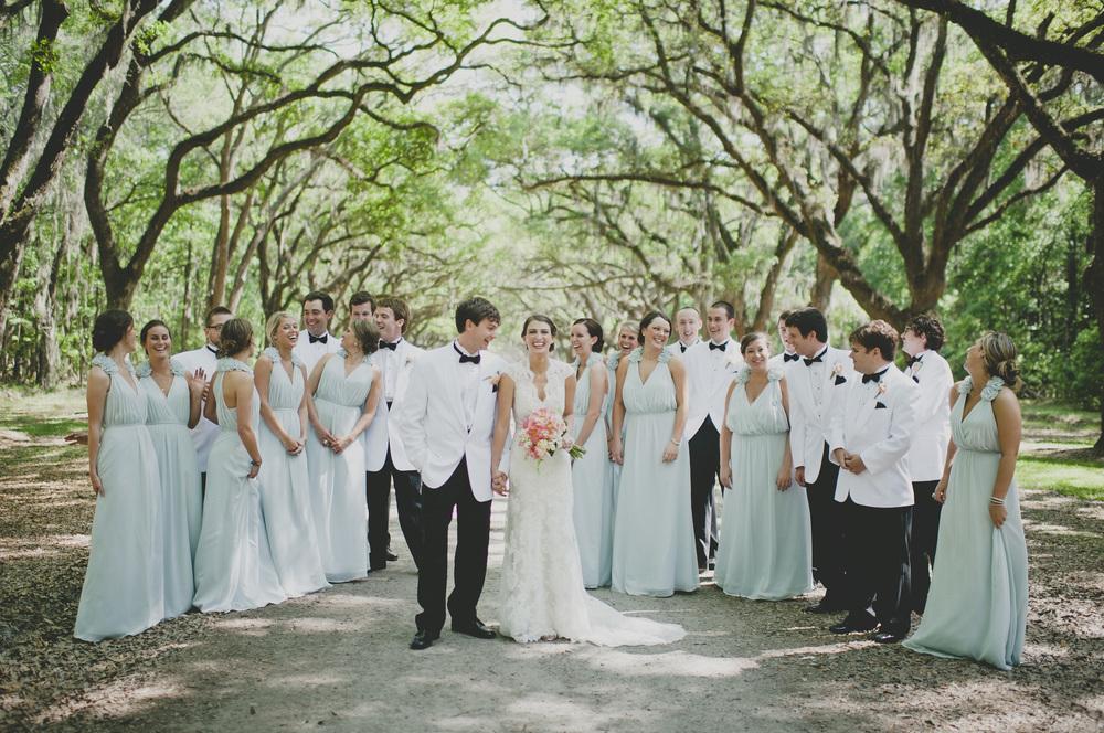 Bridal Party in Savannah