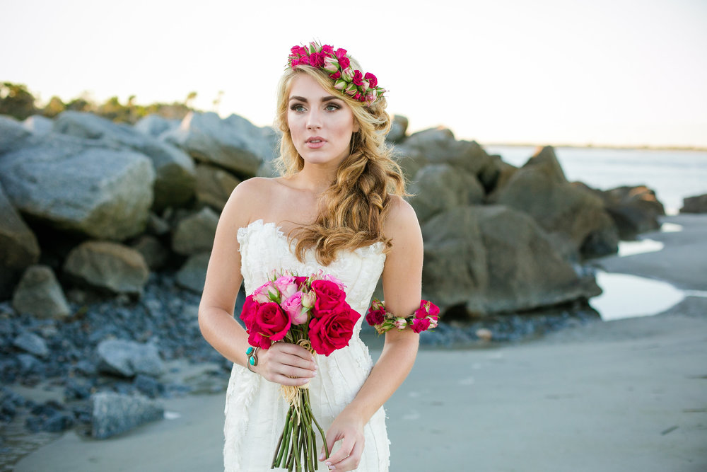 Barefoot at the Beach Shoot by Dana Cubbage Weddings