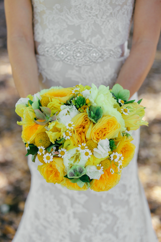 Yellow & White Boone Hall Plantation Wedding