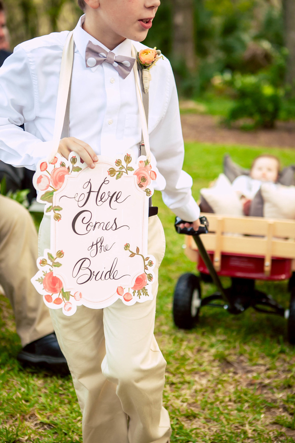 Daufuskie Island Wedding- Here Comes The Bride Sign