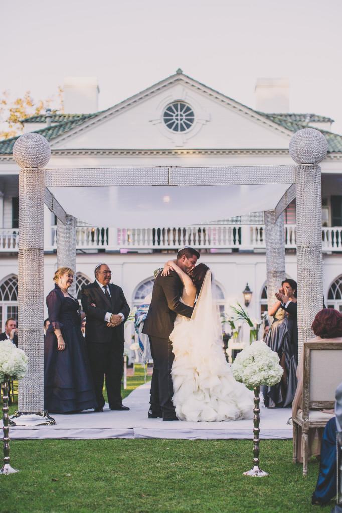 Jewish wedding ceremony at Lowndes Grove Plantation