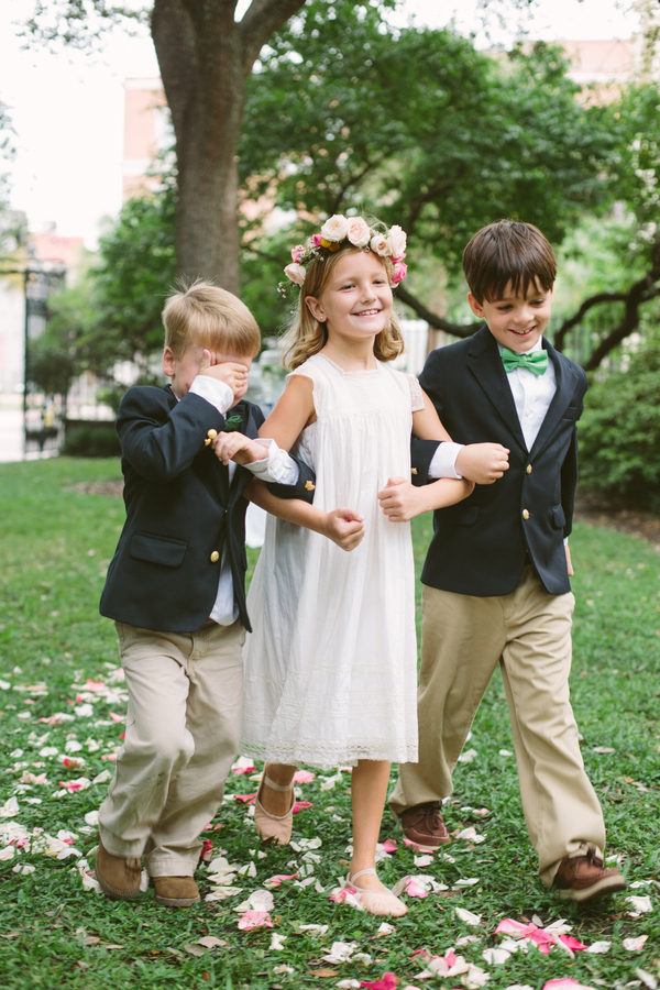 Flowergirl at Charleston wedding