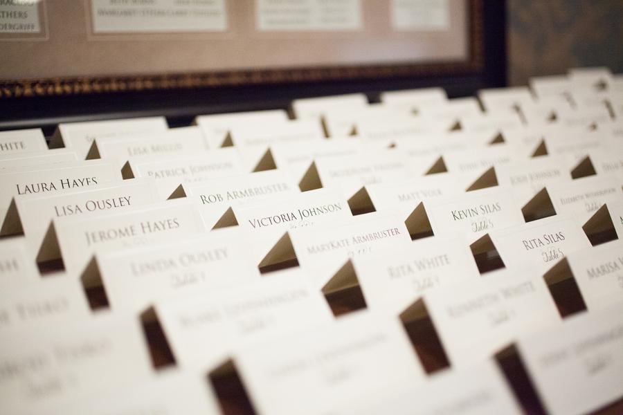 Charleston wedding placecards