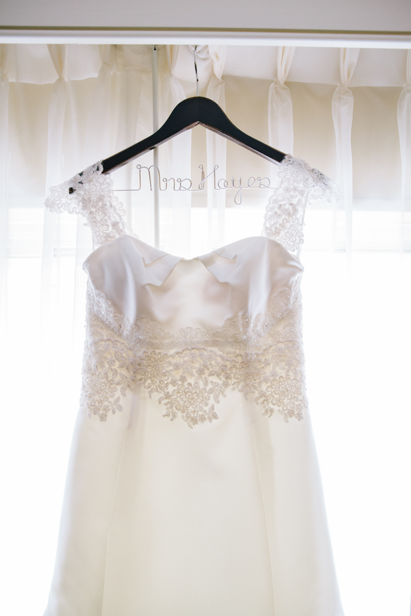 Erin Moran's wedding dress