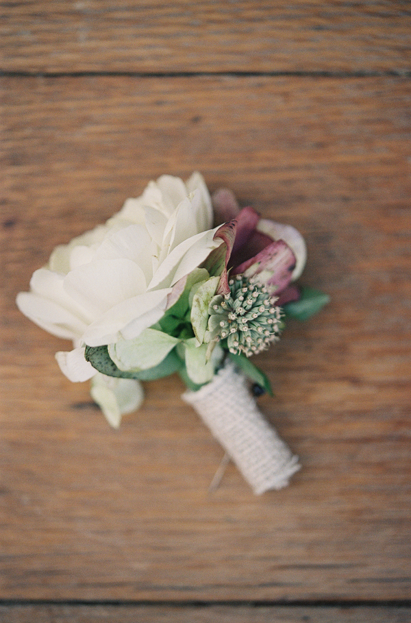 Lowcountry wedding boutonniere