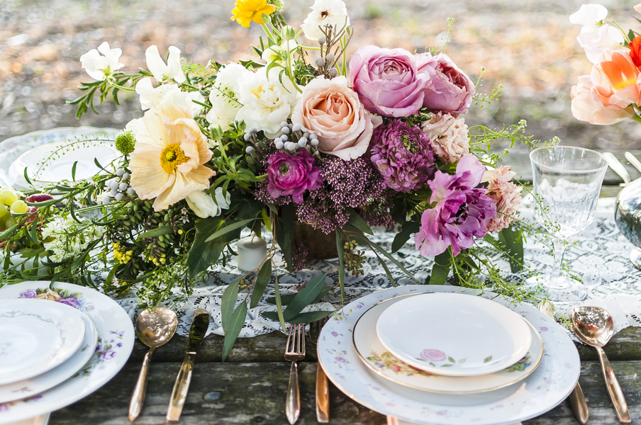 Colorful Lowcountry Wedding Centerpiece
