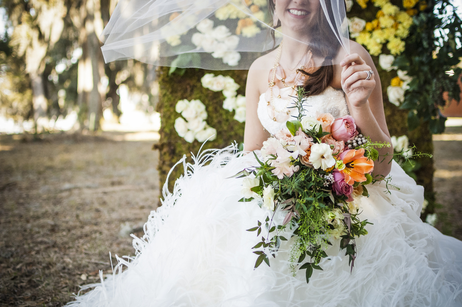 Colorful Lowcountry Wedding Bouquet