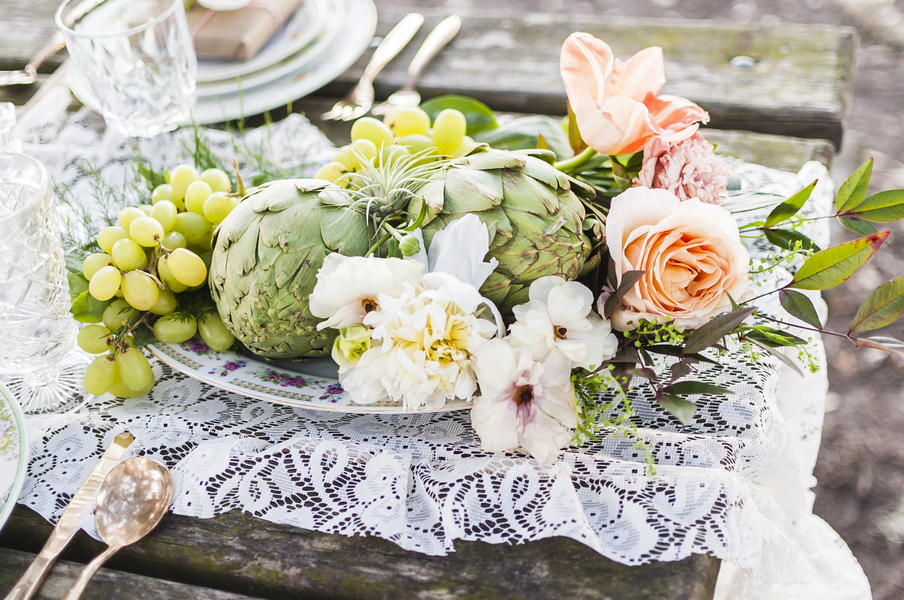 Colorful Savannah Wedding Inspiration with artichokes