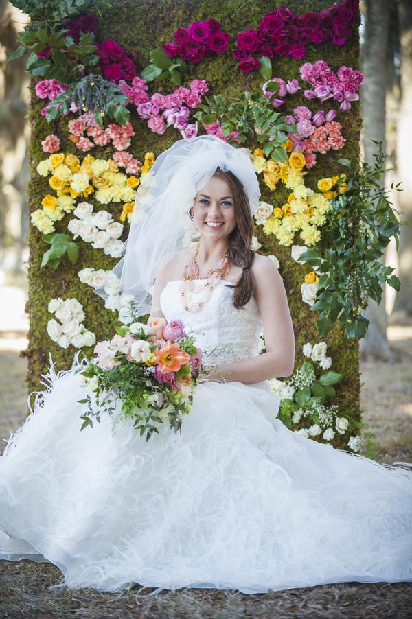Savannah Wedding Floral wall