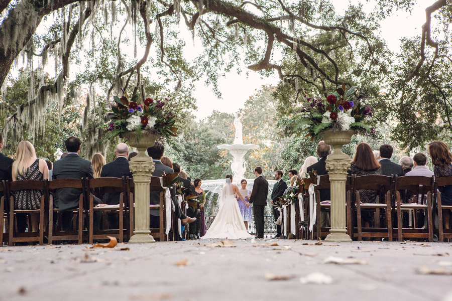 Forsyth Park wedding ceremony