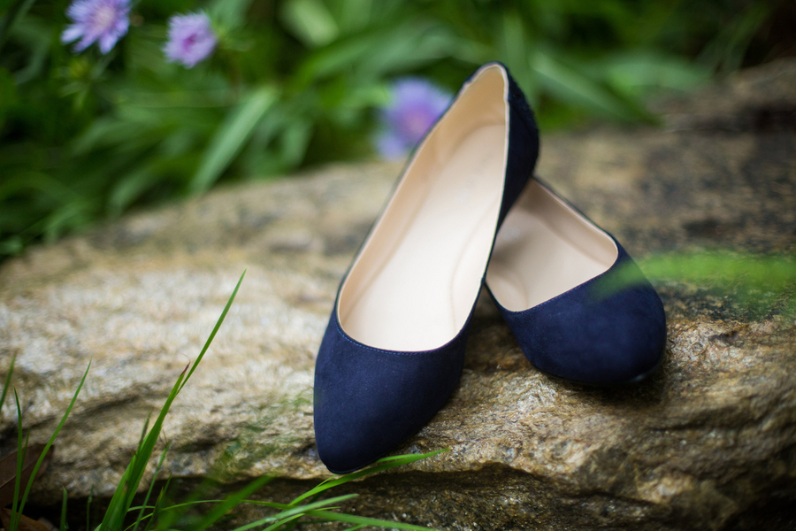 Blue wedding flats
