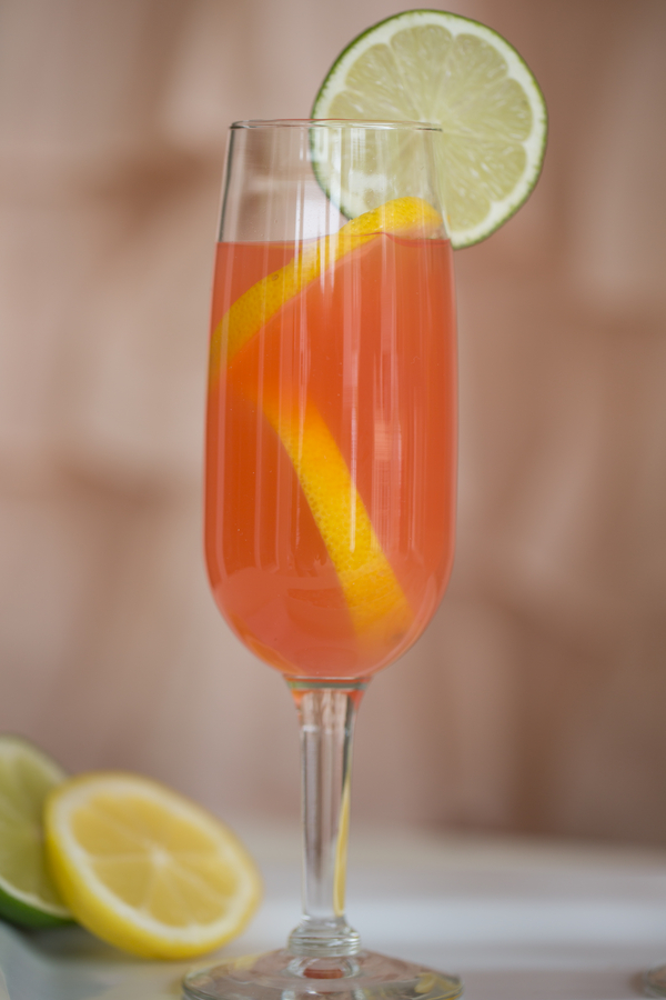 Pink & Orange Wedding cocktail