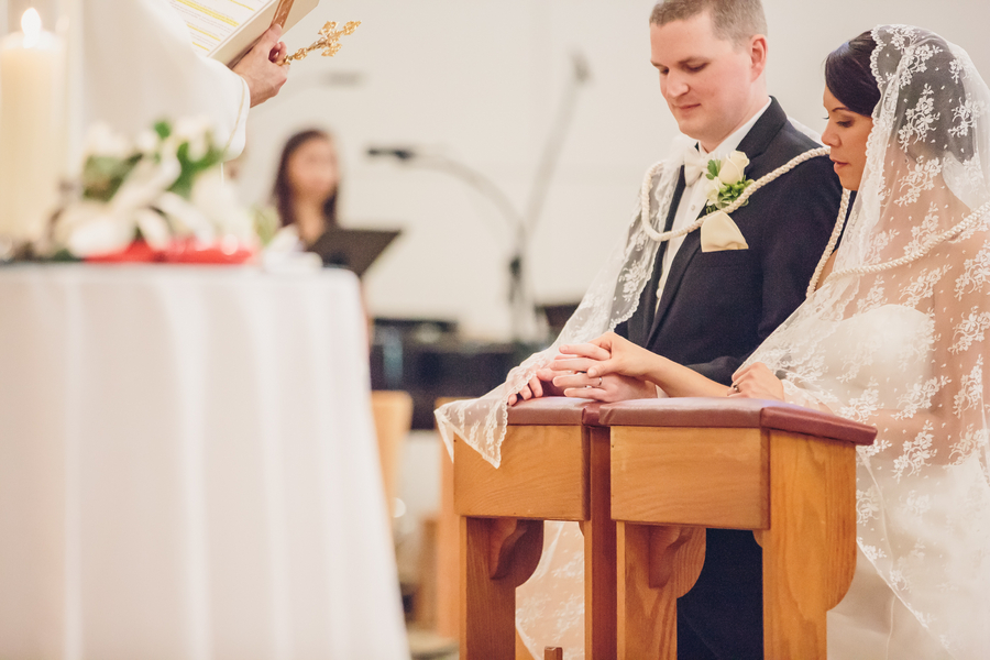 Rachel Bauer & Tony Ankrapp's Charleston wedding at St. Benedict's Catholic Church