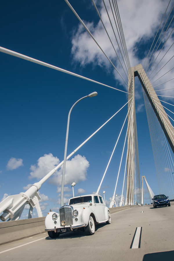 Charleston wedding at Arthur Ravenel Bridge