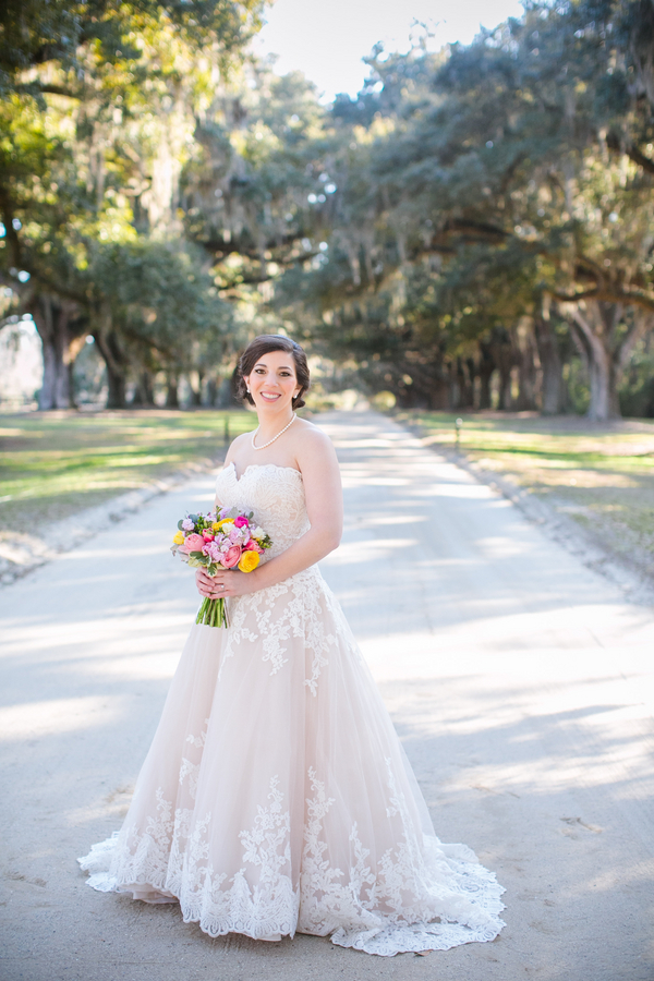 Winter Bridal Portraits at Boone Hall Plantation