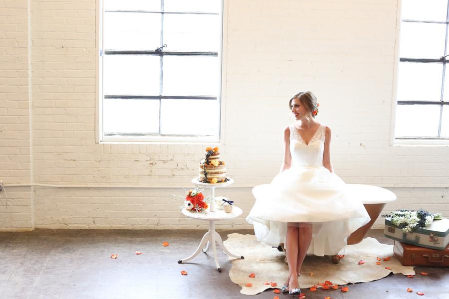 Blue and Orange Wedding Inspiration