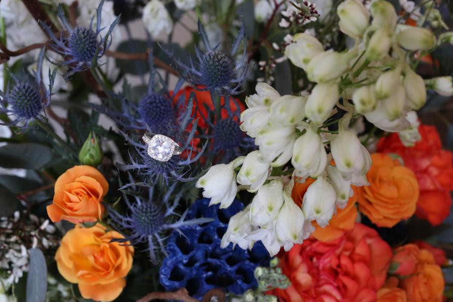 Blue and Orange Floral Inspiration