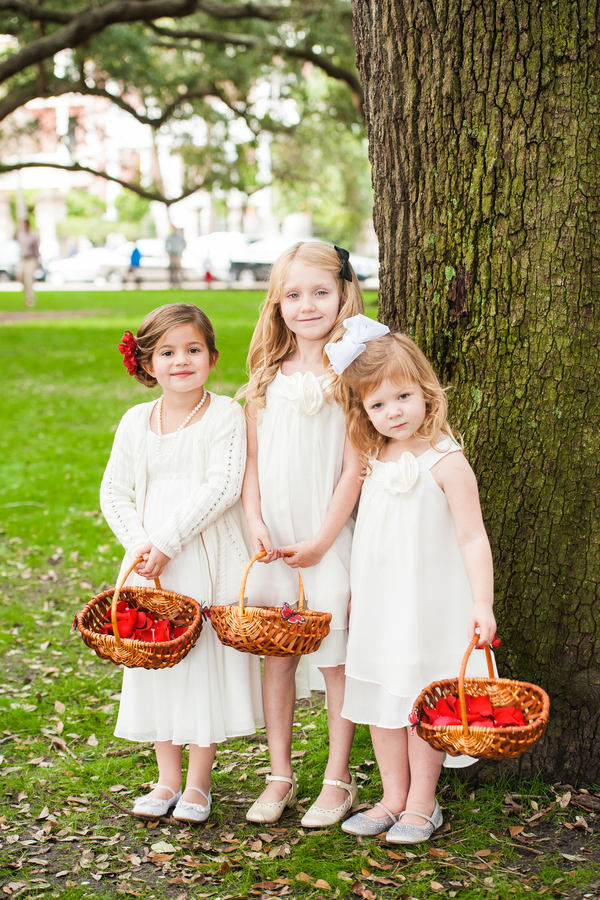Flower girls at Charleston wedding